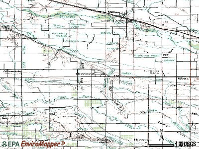 Greenleaf topographic map