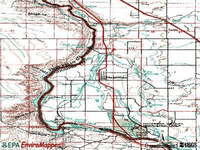 Hagerman topographic map