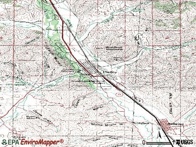 Hailey topographic map