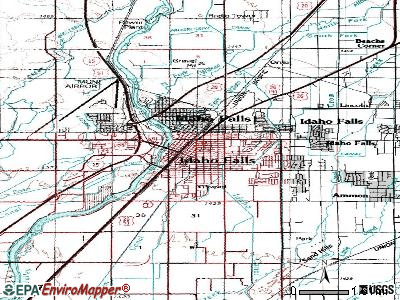 Idaho Falls topographic map