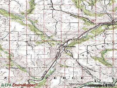 Juliaetta topographic map
