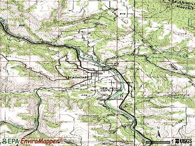 Kamiah topographic map