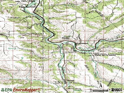 Kooskia topographic map