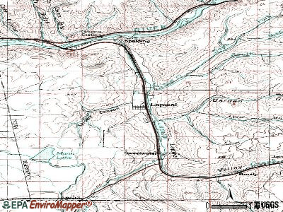 Lapwai topographic map