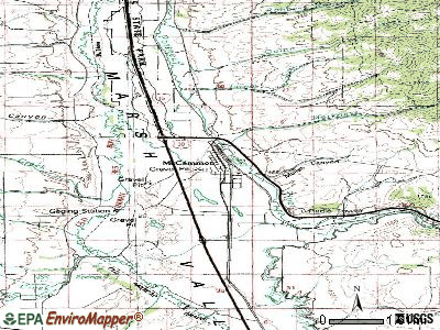 McCammon topographic map