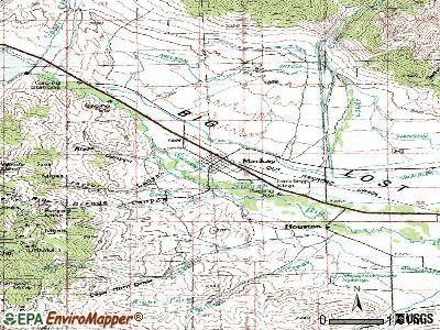 Mackay topographic map