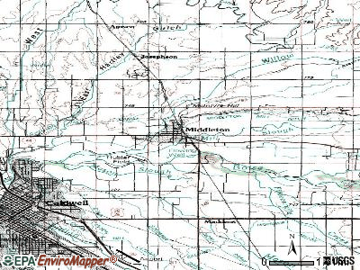 Middleton topographic map