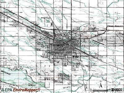 Nampa topographic map