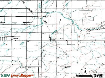 Newdale topographic map