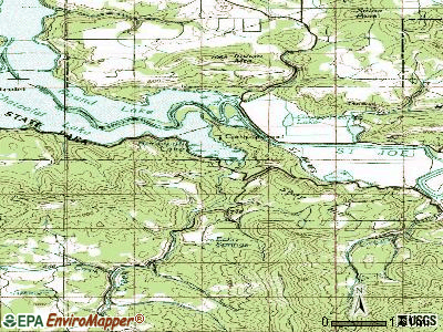 Parkline topographic map