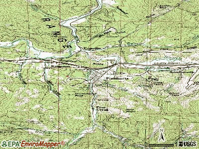 Pinehurst topographic map