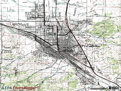 Pocatello topographic map