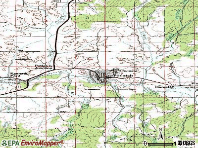 Potlatch topographic map