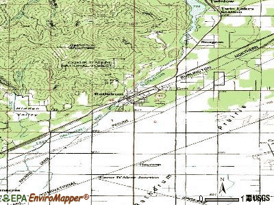 Rathdrum topographic map
