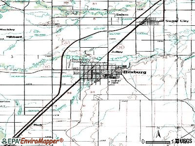 Rexburg topographic map