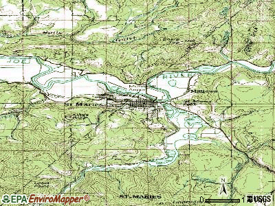 St. Maries topographic map