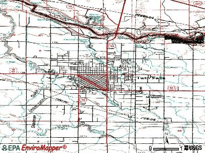Twin Falls topographic map