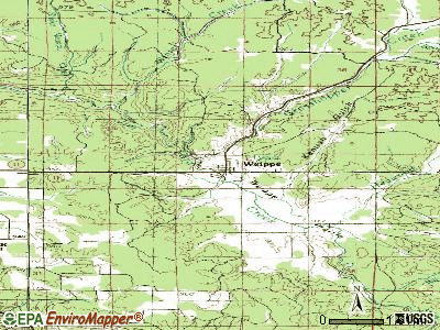 Weippe topographic map