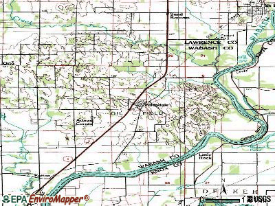 Allendale topographic map