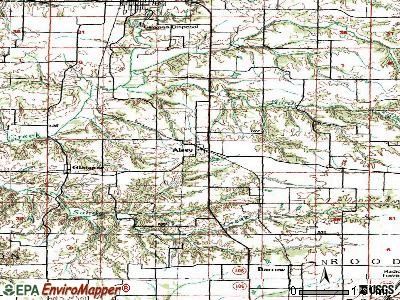 Alsey topographic map