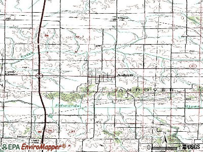Andover topographic map