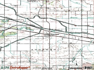 Annawan topographic map