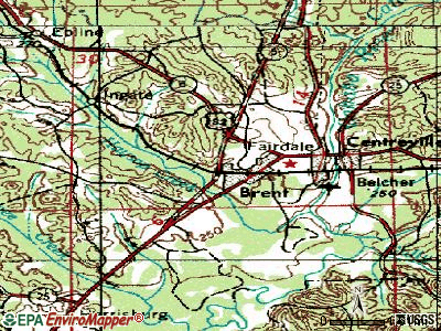 Brent topographic map