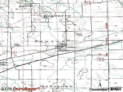 Ashton topographic map