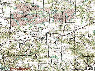 Astoria topographic map