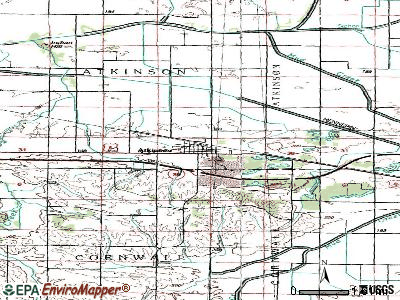 Atkinson topographic map
