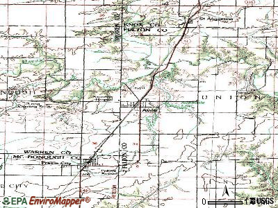 Avon topographic map