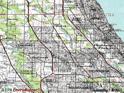Bannockburn topographic map