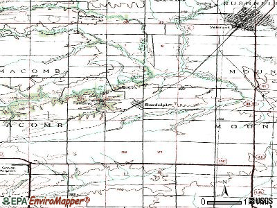 Bardolph topographic map