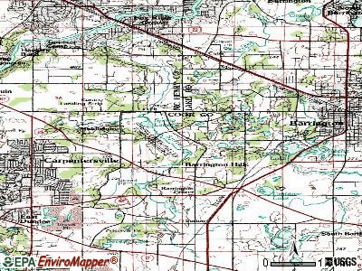 Barrington Hills topographic map