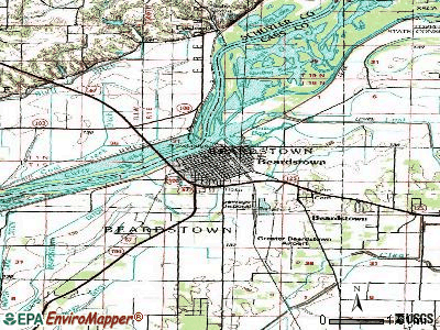 Beardstown topographic map