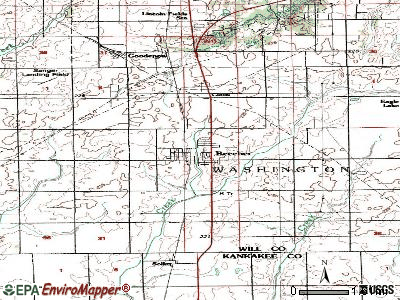Beecher topographic map