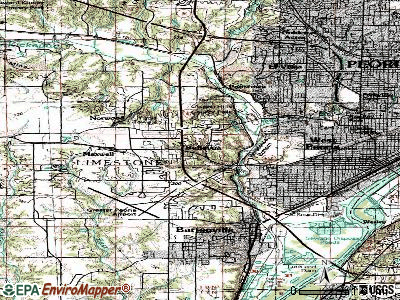 Bellevue topographic map