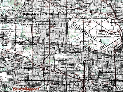Bensenville topographic map