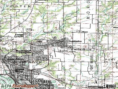Bethalto topographic map