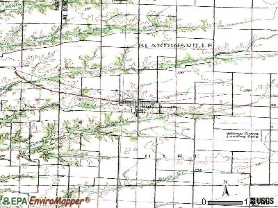 Blandinsville topographic map