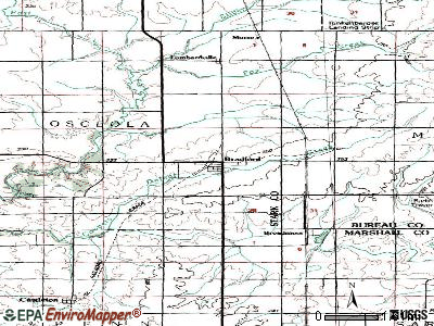 Bradford topographic map