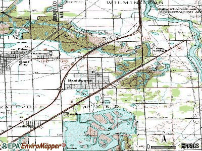 Braidwood topographic map