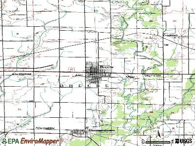 Breese topographic map