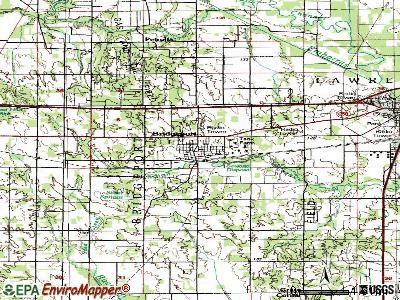 Bridgeport topographic map