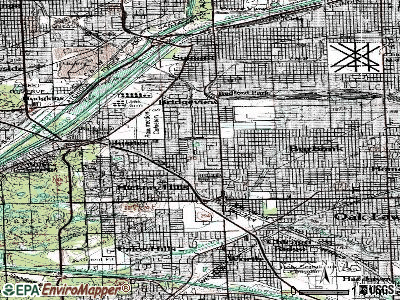 Bridgeview topographic map