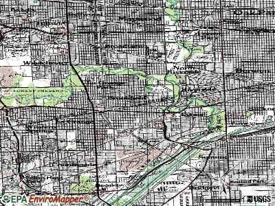 Brookfield topographic map
