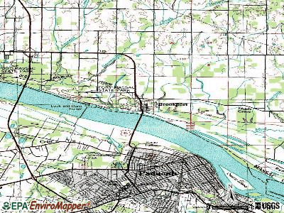 Brookport topographic map