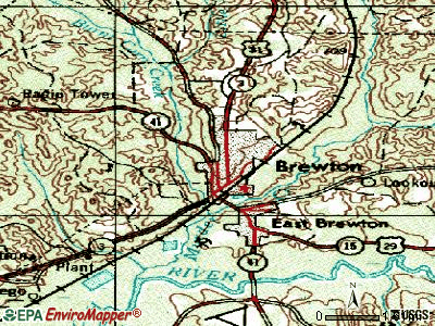 Brewton topographic map