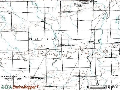 Buckingham topographic map