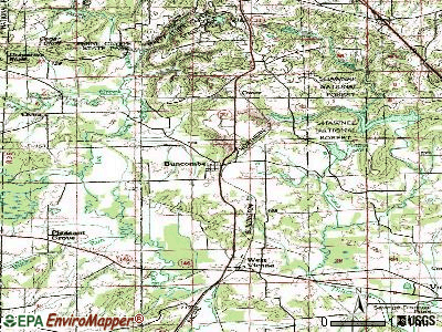 Buncombe topographic map